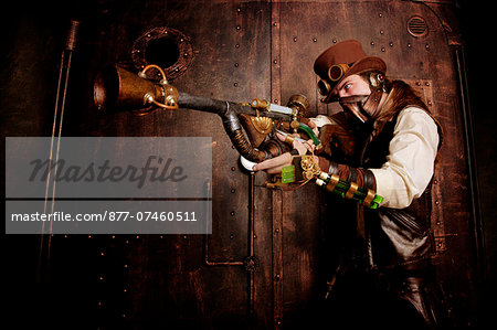 Bounty Hunter steampunk Stock Photo - Rights-Managed, Image code: 877-07460511