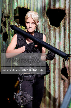Paintball Player Stock Photo - Rights-Managed, Image code: 877-07460556