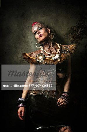 Alternative Fashion portrait of woman Stock Photo - Rights-Managed, Image code: 877-07460589