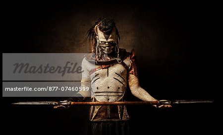 Tribal warrior surrenders Stock Photo - Rights-Managed, Image code: 877-07460599