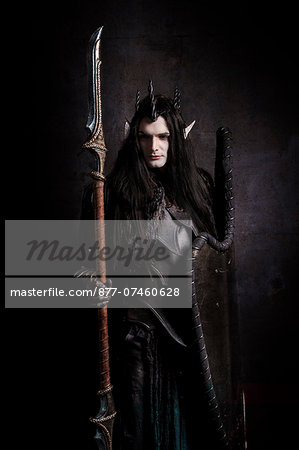 Dark Elf guard Stock Photo - Rights-Managed, Image code: 877-07460628