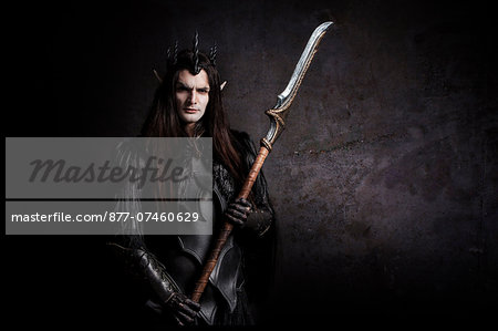 Dark Elf guard Stock Photo - Rights-Managed, Image code: 877-07460629