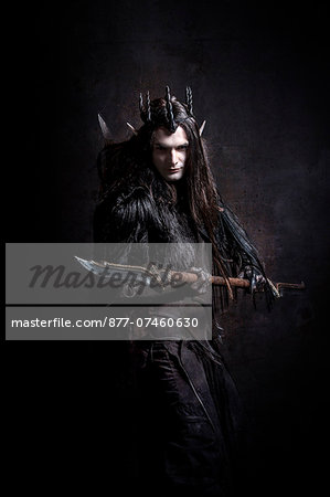 Dark Elf attack Stock Photo - Rights-Managed, Image code: 877-07460630