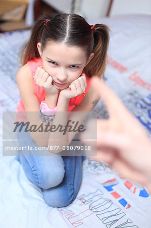 France, mother angry with daughter. Stock Photo - Rights-Managed, Image code: 877-08079018