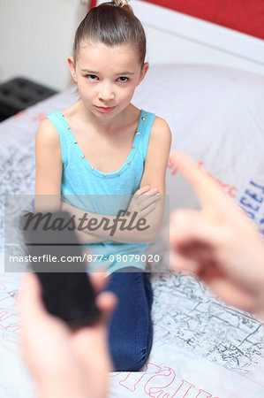 France, mother angry with daughter. Stock Photo - Rights-Managed, Image code: 877-08079020