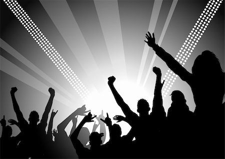 solarseven - A huge crowd at a concert cheering! Stock Photo - Budget Royalty-Free & Subscription, Code: 400-04008339