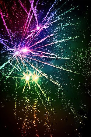 pink and purple fireworks - fireworks Stock Photo - Budget Royalty-Free & Subscription, Code: 400-04001162