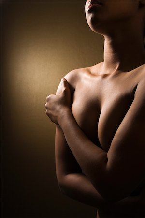 Close-up nude of young adult African-American female. Stock Photo - Budget Royalty-Free & Subscription, Code: 400-04002642