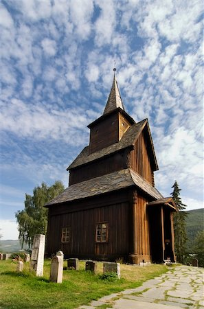 stave - A stavechurch - stavkirke - in Norway located at Torpo built in the 13th century. Stock Photo - Budget Royalty-Free & Subscription, Code: 400-04015135