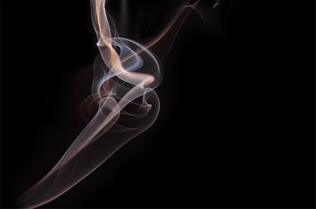 simsearch:400-05119507,k - Blue and orange cigarette smoke on black background Stock Photo - Budget Royalty-Free & Subscription, Code: 400-04015204