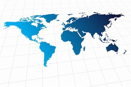 Vector - Modern global world map with metallic wave Stock Photo - Budget Royalty-Free & Subscription, Code: 400-04024971