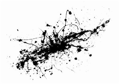dripping splat - Black and white ink splat abstract background image Stock Photo - Budget Royalty-Free & Subscription, Code: 400-04029251
