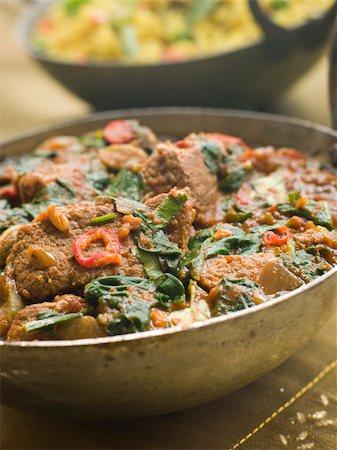punjabi - Karai Dish with Lamb Methi Gosht and Vegetable Pilau Stock Photo - Budget Royalty-Free & Subscription, Code: 400-04034125