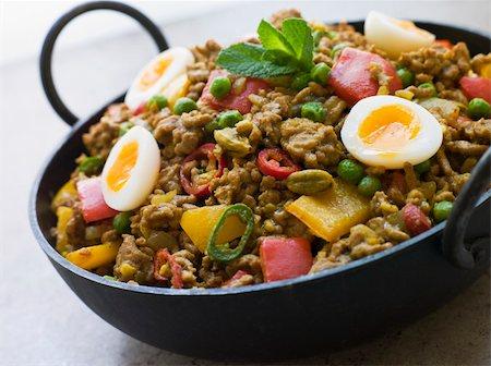 punjabi - Close up of Karahi Dish with Punjabi Keema Mattar and Quail Eggs Stock Photo - Budget Royalty-Free & Subscription, Code: 400-04031359