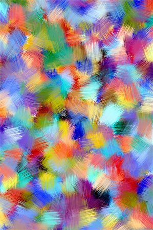 Colorful background in abstract painting style Stock Photo - Budget Royalty-Free & Subscription, Code: 400-04032316