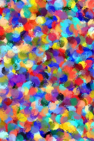 Colorful background in abstract painting style Stock Photo - Budget Royalty-Free & Subscription, Code: 400-04032317