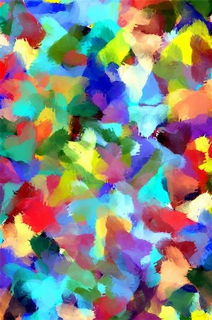 Colorful background in abstract painting style Stock Photo - Budget Royalty-Free & Subscription, Code: 400-04032318