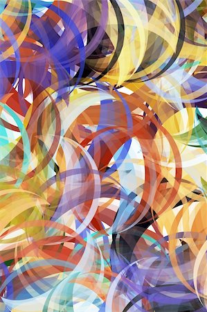 Colorful background in abstract painting style Stock Photo - Budget Royalty-Free & Subscription, Code: 400-04032320