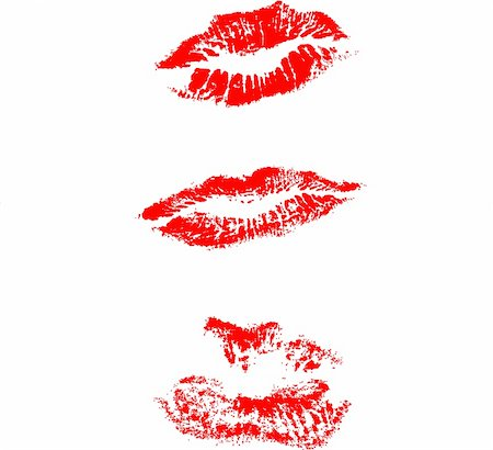 Different type of lips mark Stock Photo - Budget Royalty-Free & Subscription, Code: 400-04047390