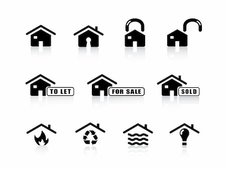 flooded homes - Home  icon set from series in my portfolio. Stock Photo - Budget Royalty-Free & Subscription, Code: 400-04047405