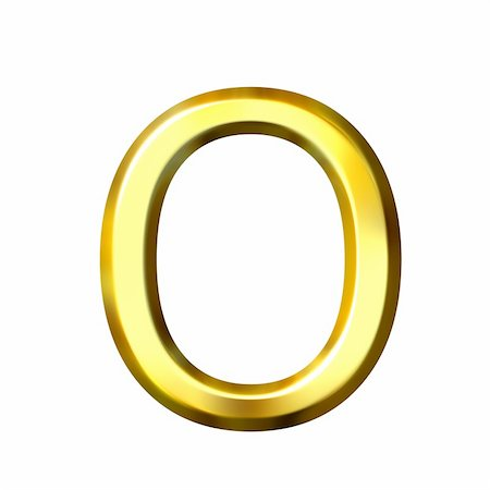 fancy letters - 3d golden letter o isolated in white Stock Photo - Budget Royalty-Free & Subscription, Code: 400-04050567