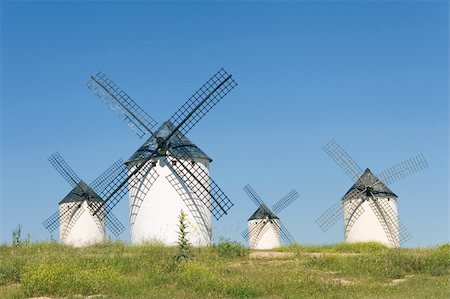 Windmills at Campo de Criptana, Ciudad Real (Spain) Stock Photo - Budget Royalty-Free & Subscription, Code: 400-04066911