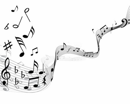 quarter note - Musical notes staff with lines and shadows Stock Photo - Budget Royalty-Free & Subscription, Code: 400-04075775