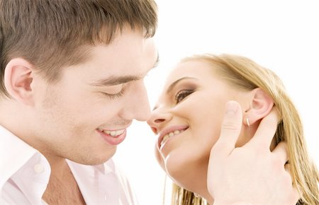 picture of couple in love over white Stock Photo - Budget Royalty-Free & Subscription, Code: 400-04078952