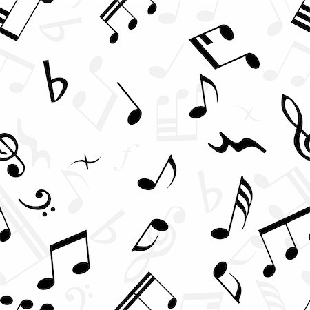 quarter note - Seamless musical notes texture. For easy making seamless pattern just drag all group into swatches bar, and use it for filling any contours. Stock Photo - Budget Royalty-Free & Subscription, Code: 400-04071543