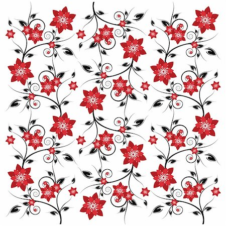 Patterned flower background for art creations. Stock Photo - Budget Royalty-Free & Subscription, Code: 400-04085650