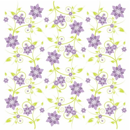 Patterned flower background for art creations. Stock Photo - Budget Royalty-Free & Subscription, Code: 400-04085651