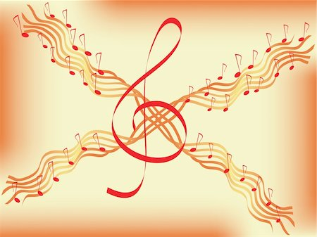quarter note - musical abstract background. vector Stock Photo - Budget Royalty-Free & Subscription, Code: 400-04086992