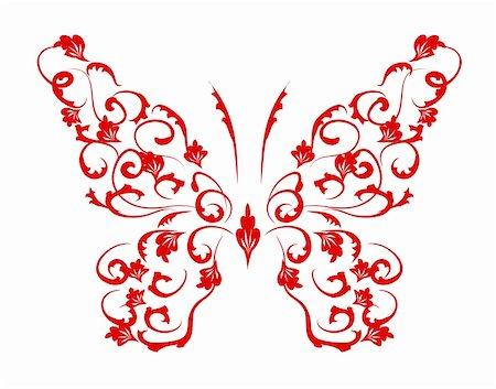 Butterfly silhouette for you design Stock Photo - Budget Royalty-Free & Subscription, Code: 400-04089397