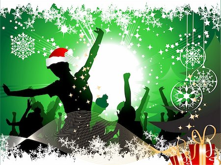 Christmas party background Stock Photo - Budget Royalty-Free & Subscription, Code: 400-04089912