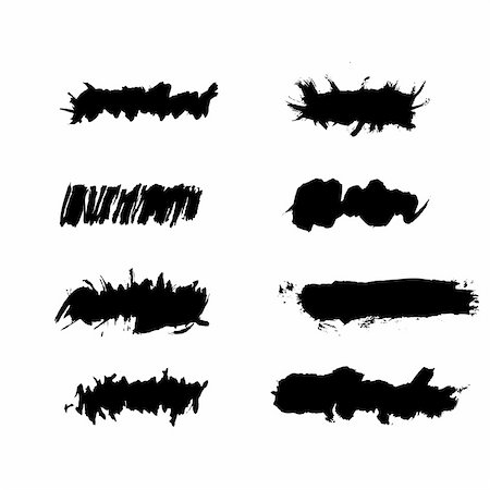 Vector - Grunge ink splat brush can be used for border, text insertion or background Stock Photo - Budget Royalty-Free & Subscription, Code: 400-04080353