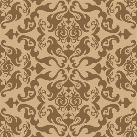Abstract seamles vector background in victorian style Stock Photo - Budget Royalty-Free & Subscription, Code: 400-04081317