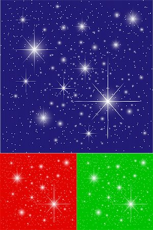 Twinkling Stars on Blue, Green and Red Backgrounds Stock Photo - Budget Royalty-Free & Subscription, Code: 400-04083964