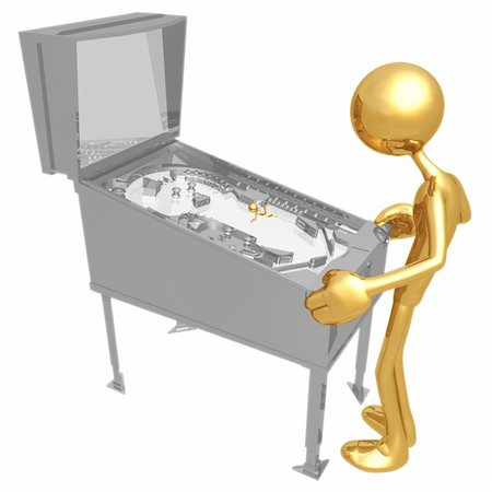 pinball - A Concept And Presentation Figure In 3D Stock Photo - Budget Royalty-Free & Subscription, Code: 400-04096079