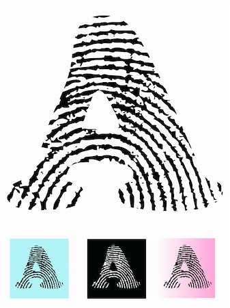 pokerman (artist) - Fingerprint Alphabet Letter A (Highly detailed Letter - transparent so can be overlaid onto other graphics) Stock Photo - Budget Royalty-Free & Subscription, Code: 400-04096697
