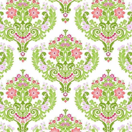 Seamless Damask floral pattern. Vector illustration. Stock Photo - Royalty-Free, Artist: avian, Image code: 400-04096720