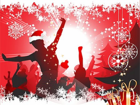 Christmas party background Stock Photo - Budget Royalty-Free & Subscription, Code: 400-04097143