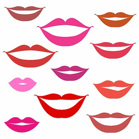 Smiles, lips background Stock Photo - Budget Royalty-Free & Subscription, Code: 400-04099955