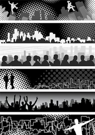 Set of editable vector banners on urban theme Stock Photo - Budget Royalty-Free & Subscription, Code: 400-04091463