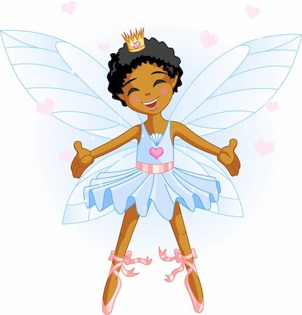 flying heart girl - Cute blue fairy ballerina flying Stock Photo - Budget Royalty-Free & Subscription, Code: 400-04115403