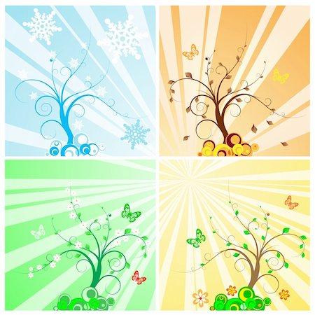 Four Seasons Tree Stock Photo - Budget Royalty-Free & Subscription, Code: 400-04115721