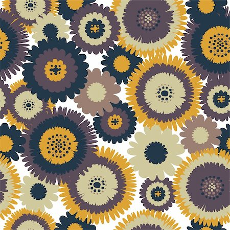 simsearch:400-04765926,k - Abstract Retro Flowers Retro Seamless Background Stock Photo - Budget Royalty-Free & Subscription, Code: 400-04116031