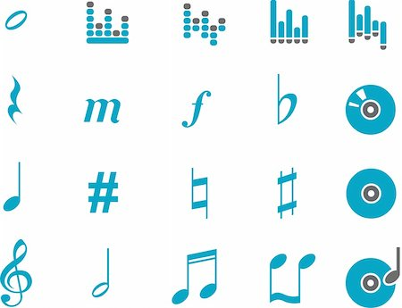 Vector icons pack - Blue Series, music collection Stock Photo - Budget Royalty-Free & Subscription, Code: 400-04118777