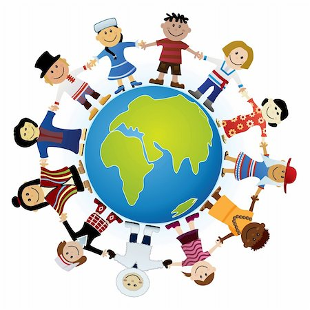 Kids Of The World Illustration Stock Photo - Budget Royalty-Free & Subscription, Code: 400-04111548