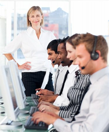 Young Team working in a call centre Stock Photo - Budget Royalty-Free & Subscription, Code: 400-04112741