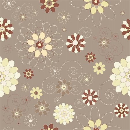 simsearch:400-04765926,k - Retro/vintage/modern floral seamless background Stock Photo - Budget Royalty-Free & Subscription, Code: 400-04112812